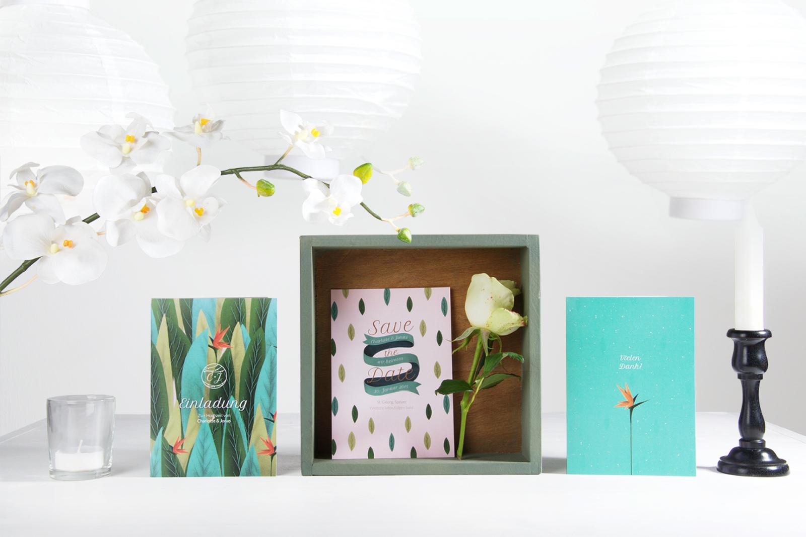 1-Hochzeitskarte-Einladung-Hochzeitseinladung-Hochzeitskartendesign-Birds-of-Paradise-Blätter-Blume-1