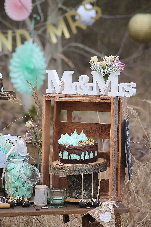 Hochzeit Torte mint und Donuts Hochzeit