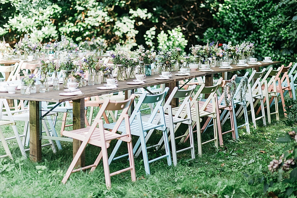 Hochzeitsdekoration leihen! Von Vintage Geschirr, über Stühle bis hin zu Girlanden