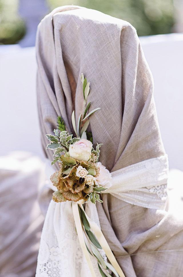 Stuhldekoration Hochzeit