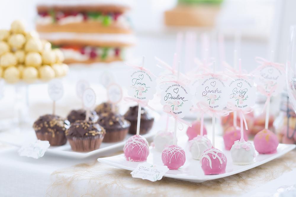 Hochzeit Candy Bar rosa