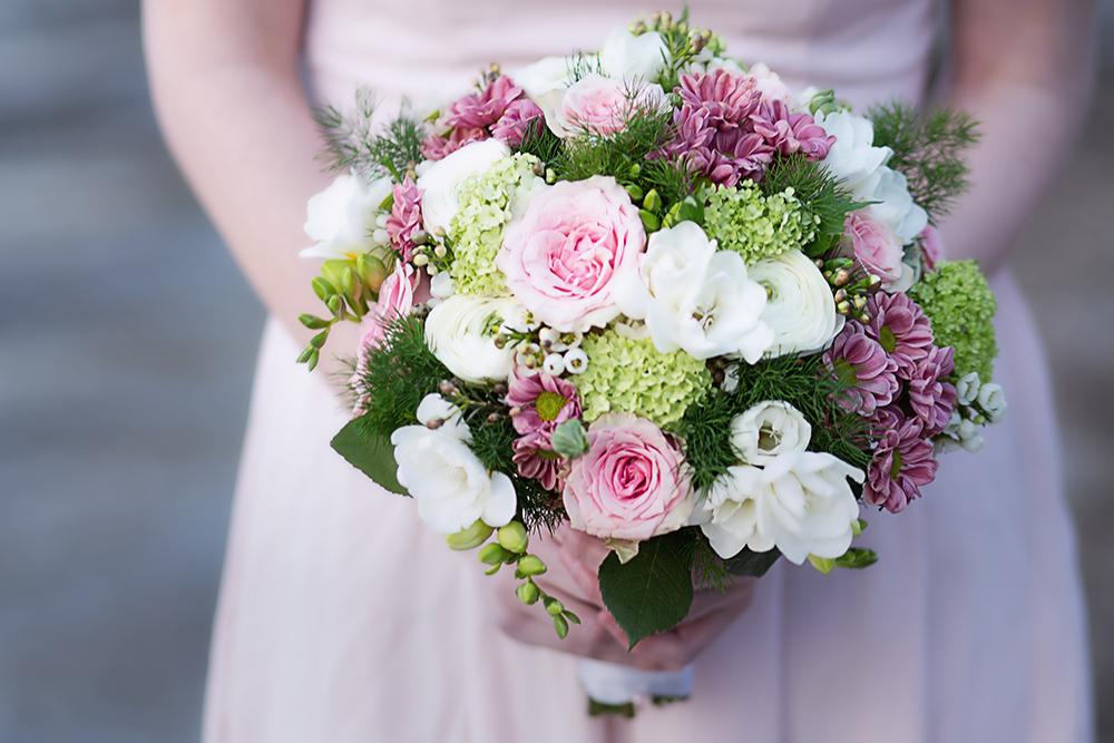 Brautstrauß Frühling rosa