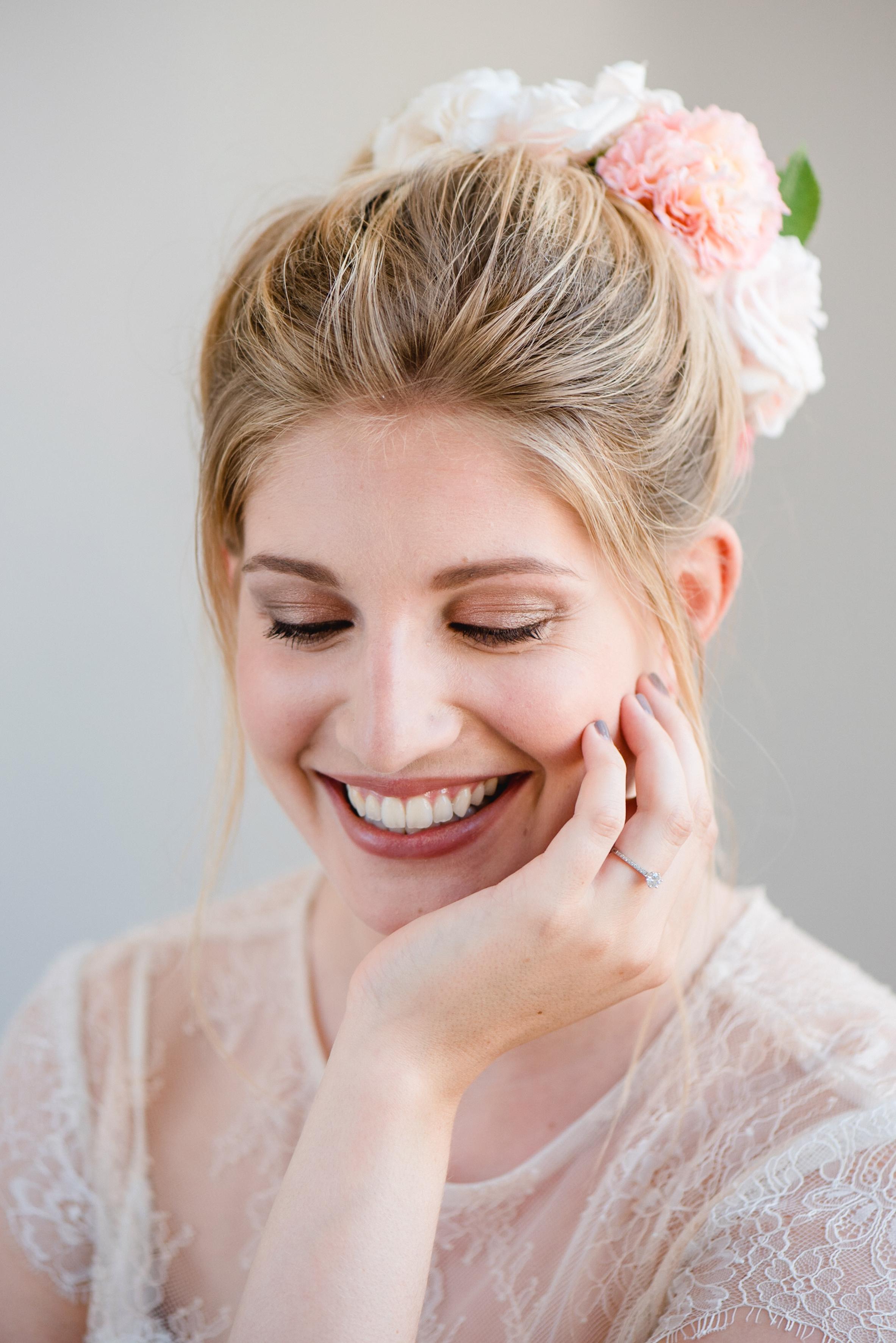 Brautfrisur Haare hochgesteckt