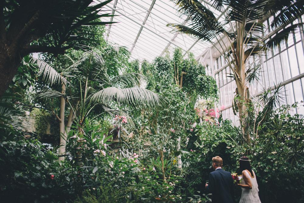 botanische Hochzeit Gewächshaus