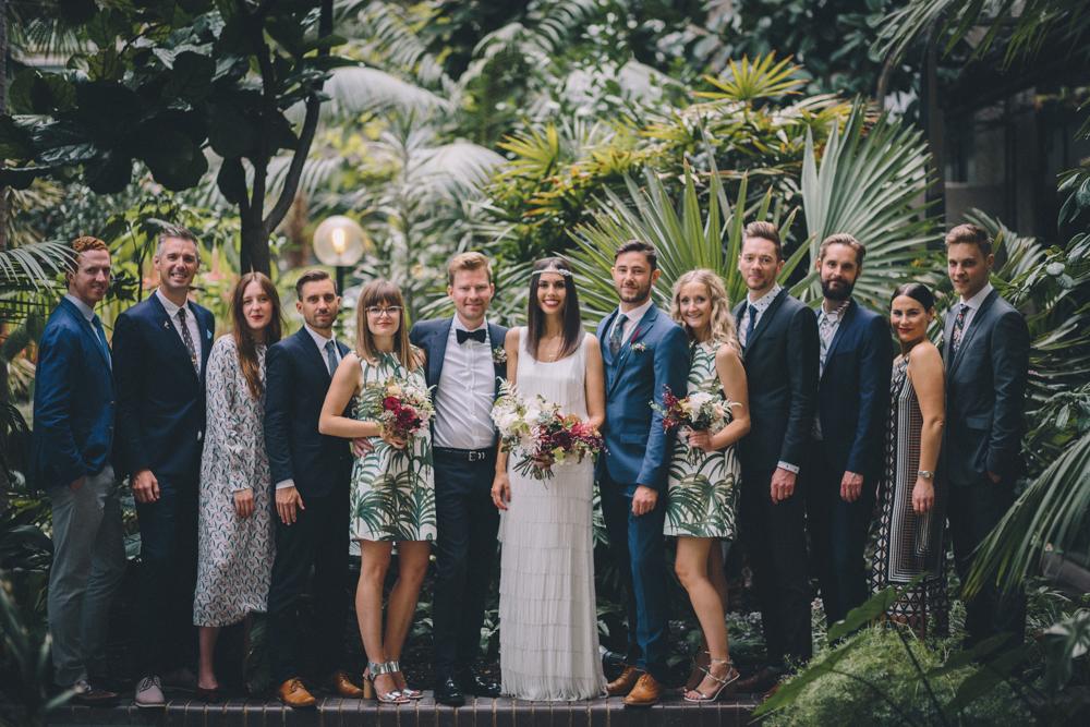 botanische grüne Hochzeit Gewächshaus