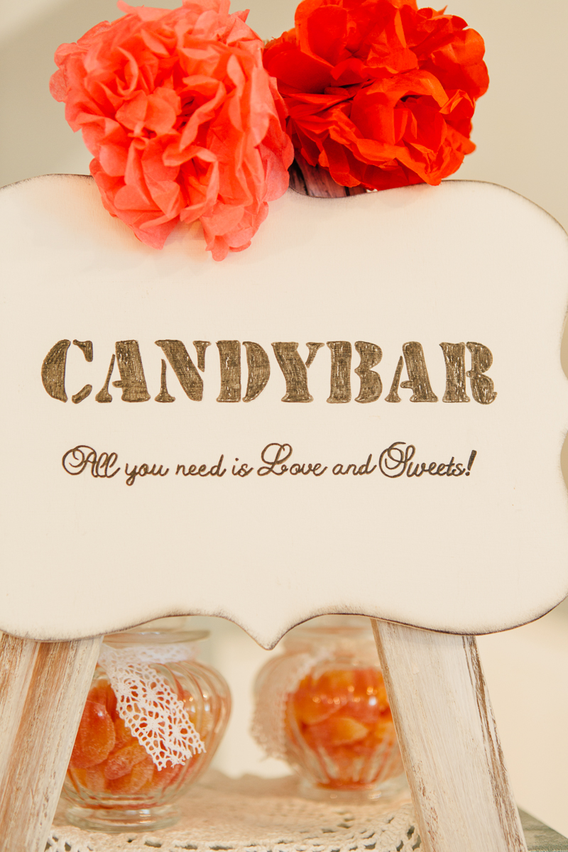 Candy Bar Vintage rot orange pink