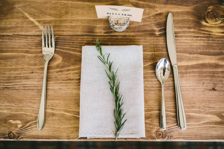 Tischdekoration Hochzeit Rosmarin