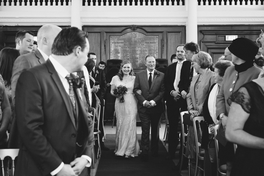old finsbury town hall wedding photography london quirky alternative photographer-45