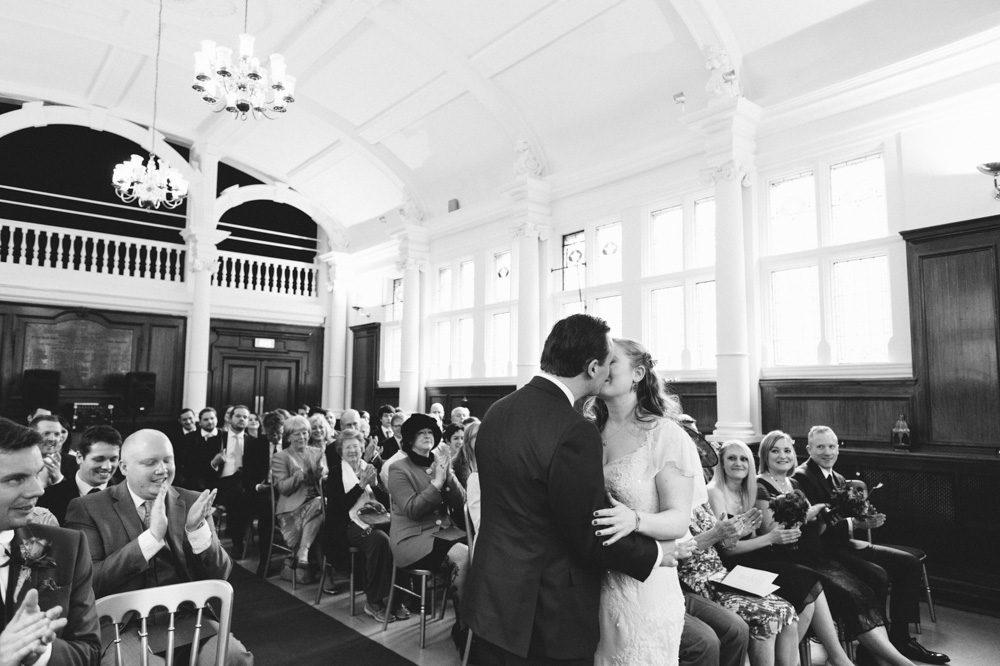 old finsbury town hall wedding photography london quirky alternative photographer-52