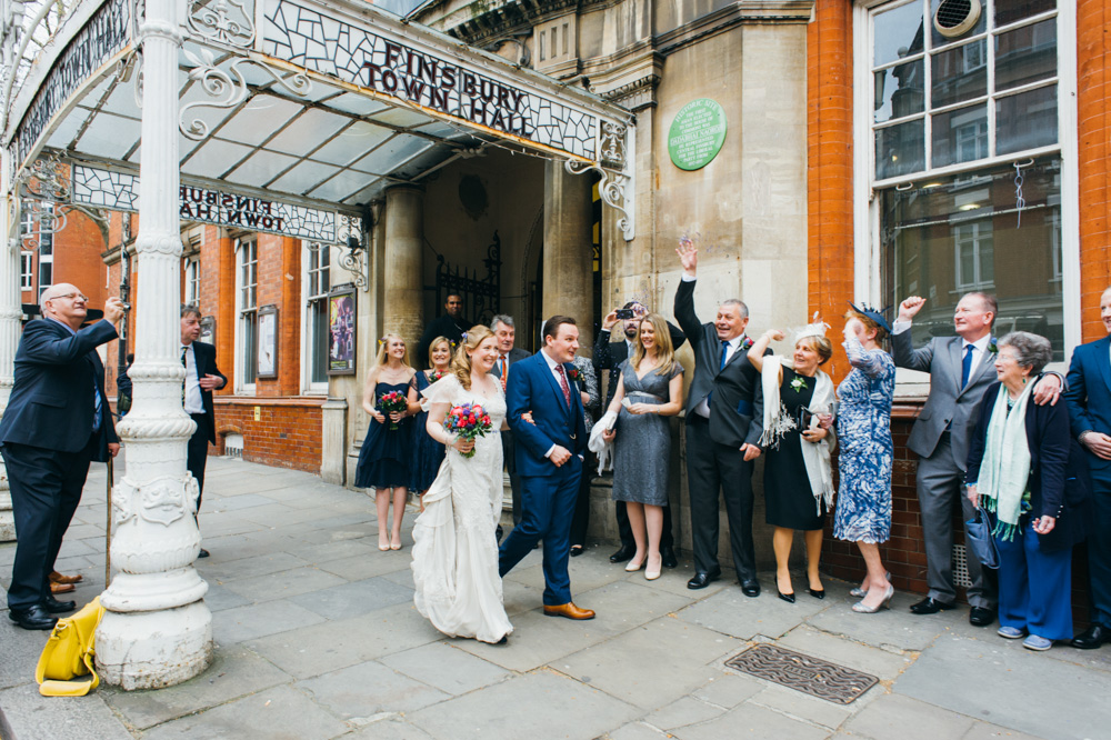 old finsbury town hall wedding photography london quirky alternative photographer-55
