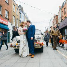 Coole und bunte London Festival Hochzeit
