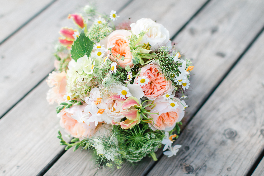 Brautstrauß David Austen Rose