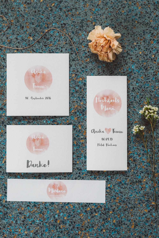Hochzeitspapeterie Formatreich