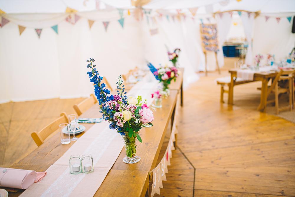 Tischdekoration Vintage Hochzeit
