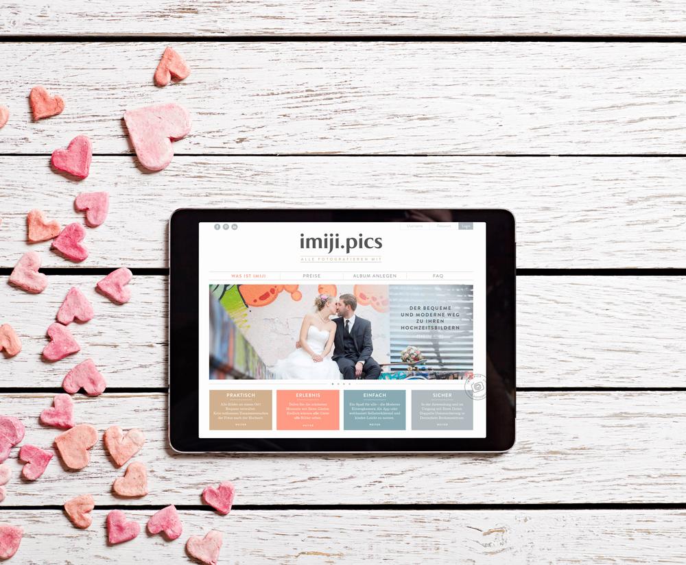 Individuelle Galerie eurer Hochzeitsbilder mit imiji pics
