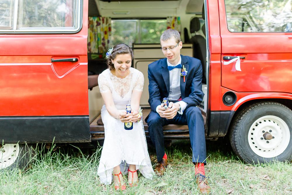 Hochzeit rot blau
