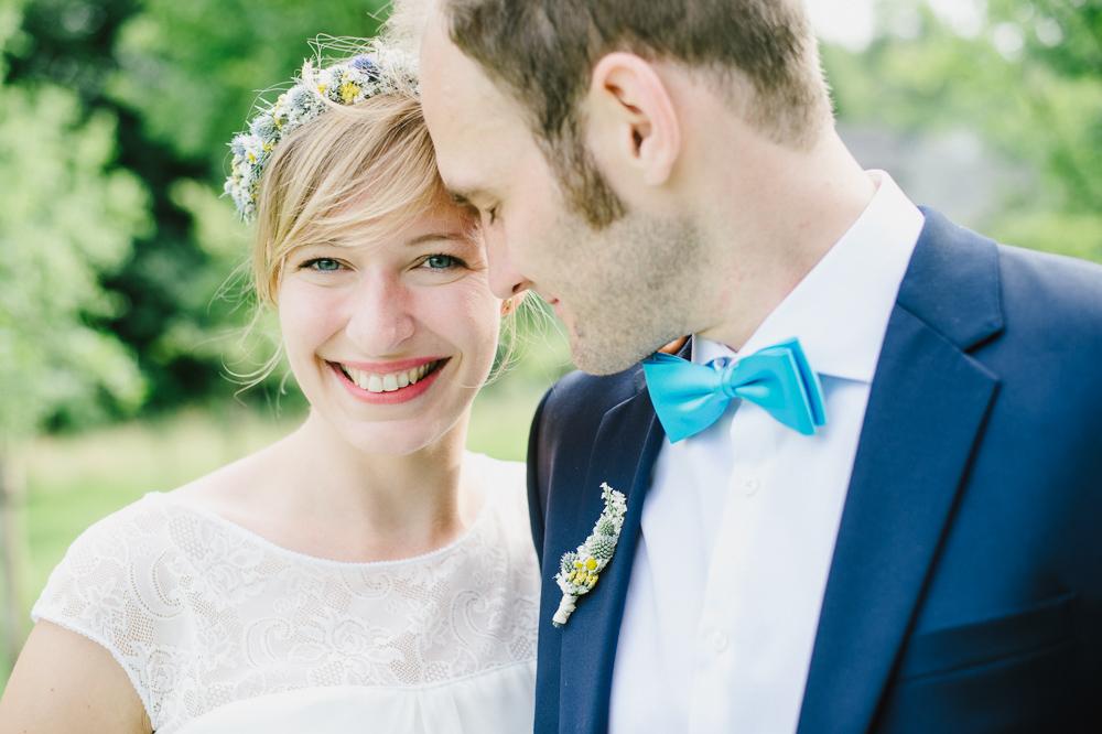 Rustikale DIY Hochzeit in gelb und türkis