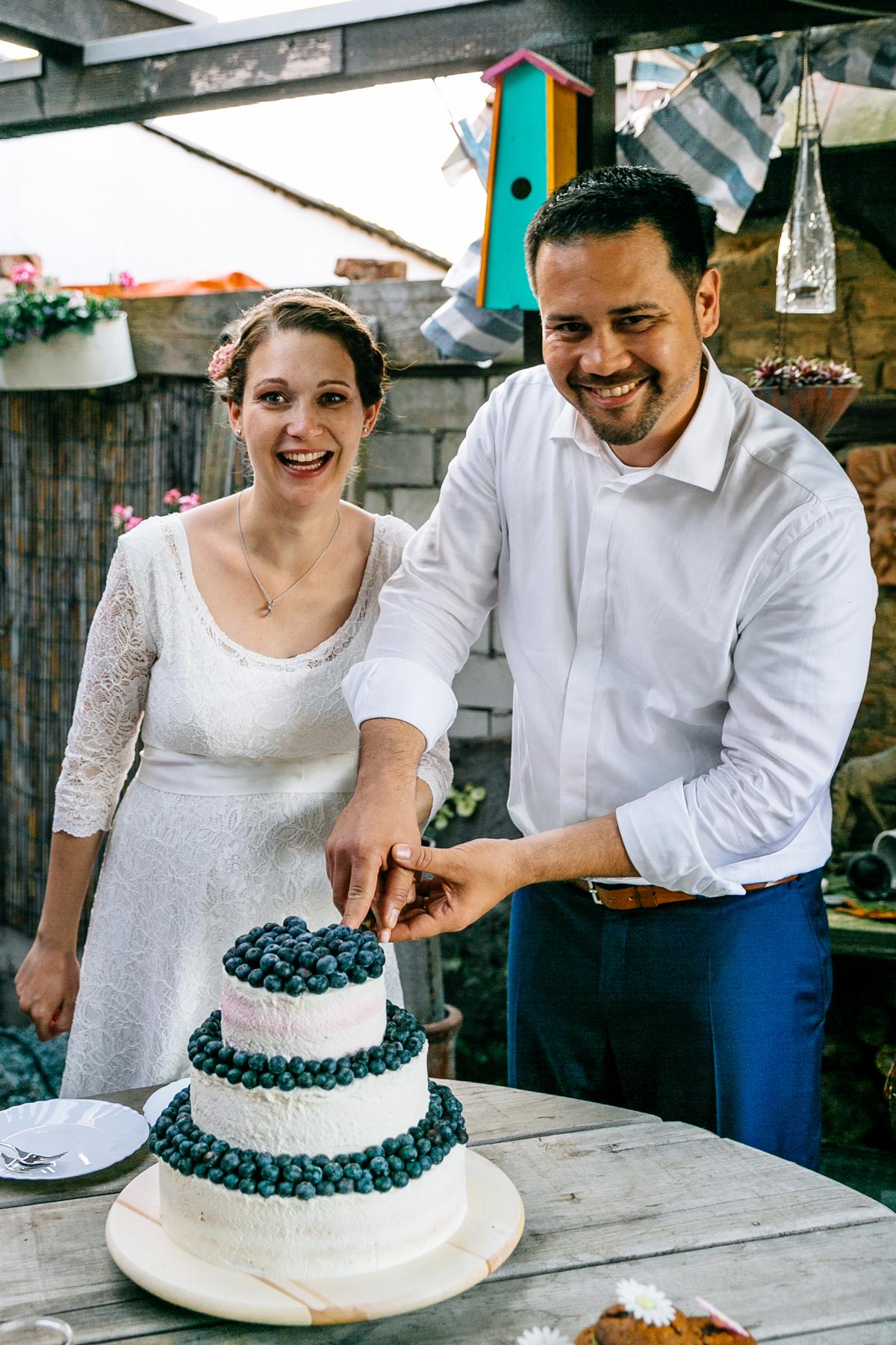 Hochzeitstorte Heidelbeeren