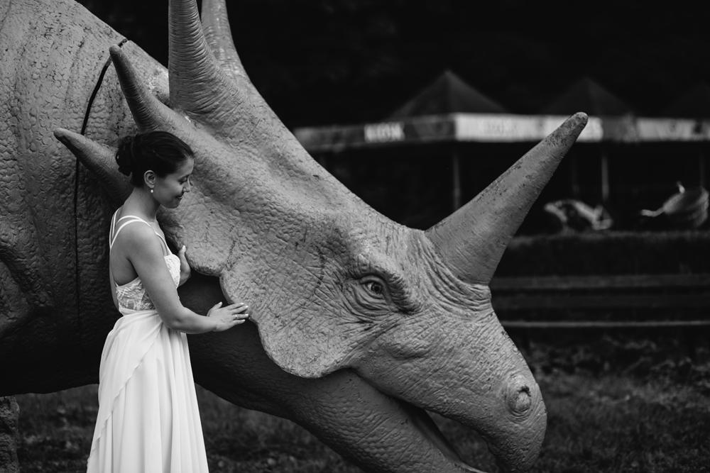 Hochzeitsbild Dinosaurier Spreepark