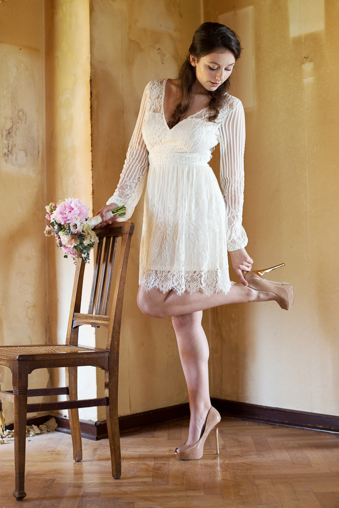 Brautkleid kurz Spitze