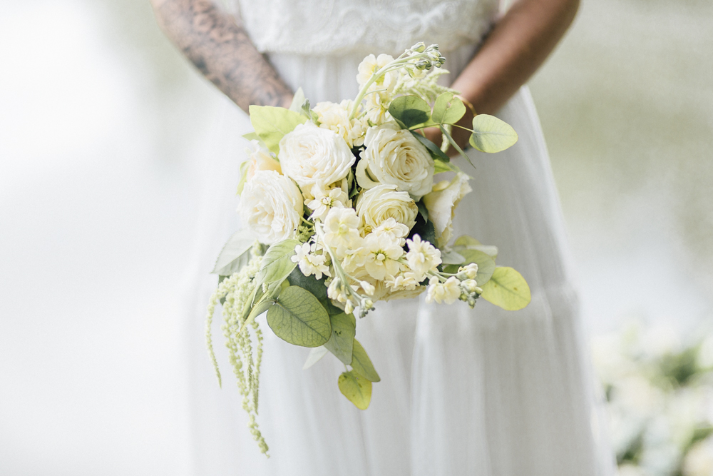 Brautstrauß Boho weiß