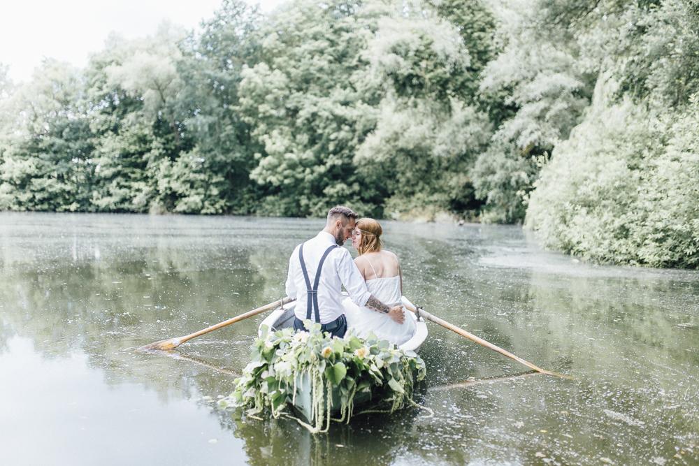Boho Hochzeit am See