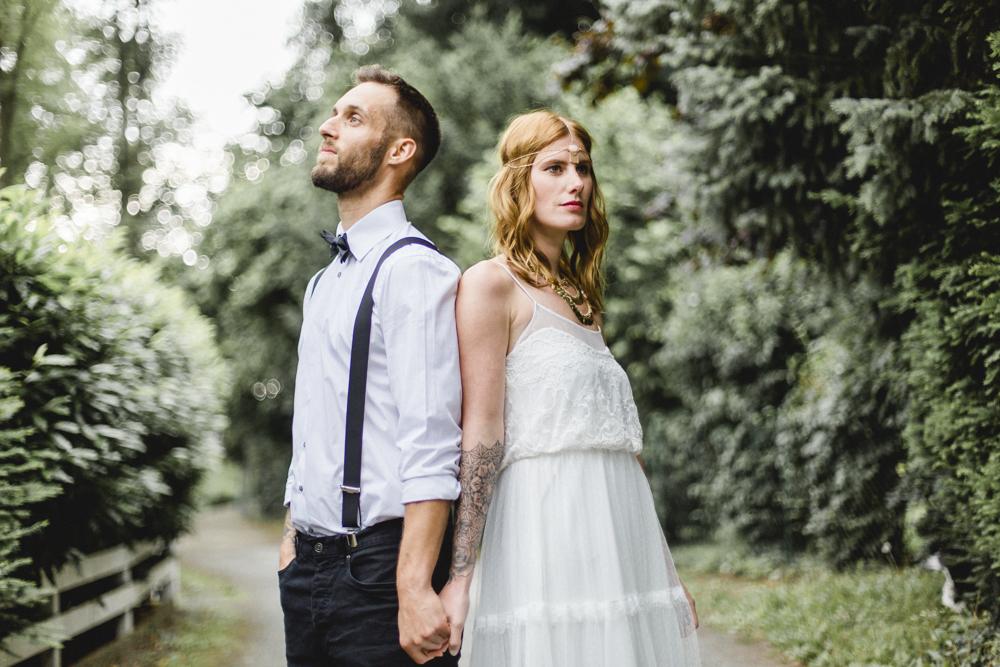 Boho Style Brautpaar