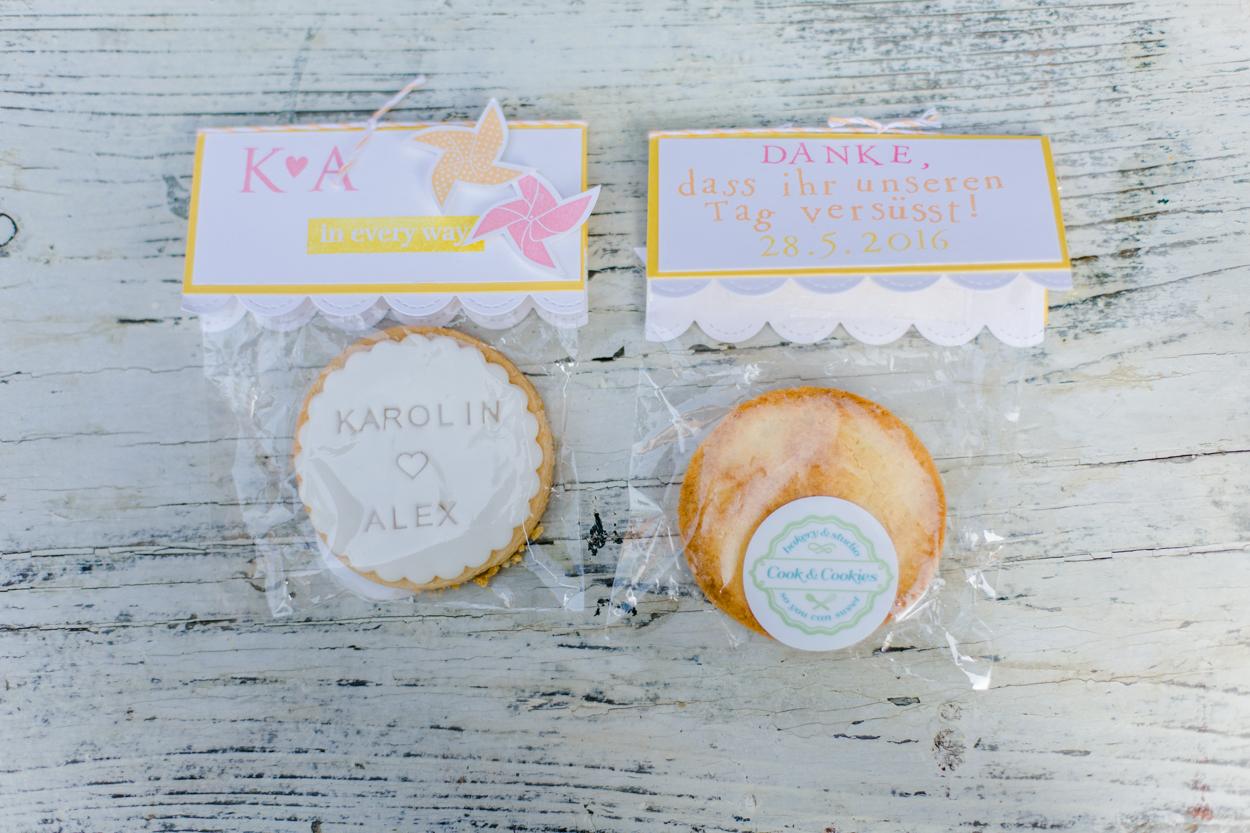 Gastgeschenk Hochzeit Cookies