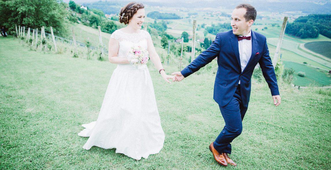Malerische Hochzeit auf dem Weingut