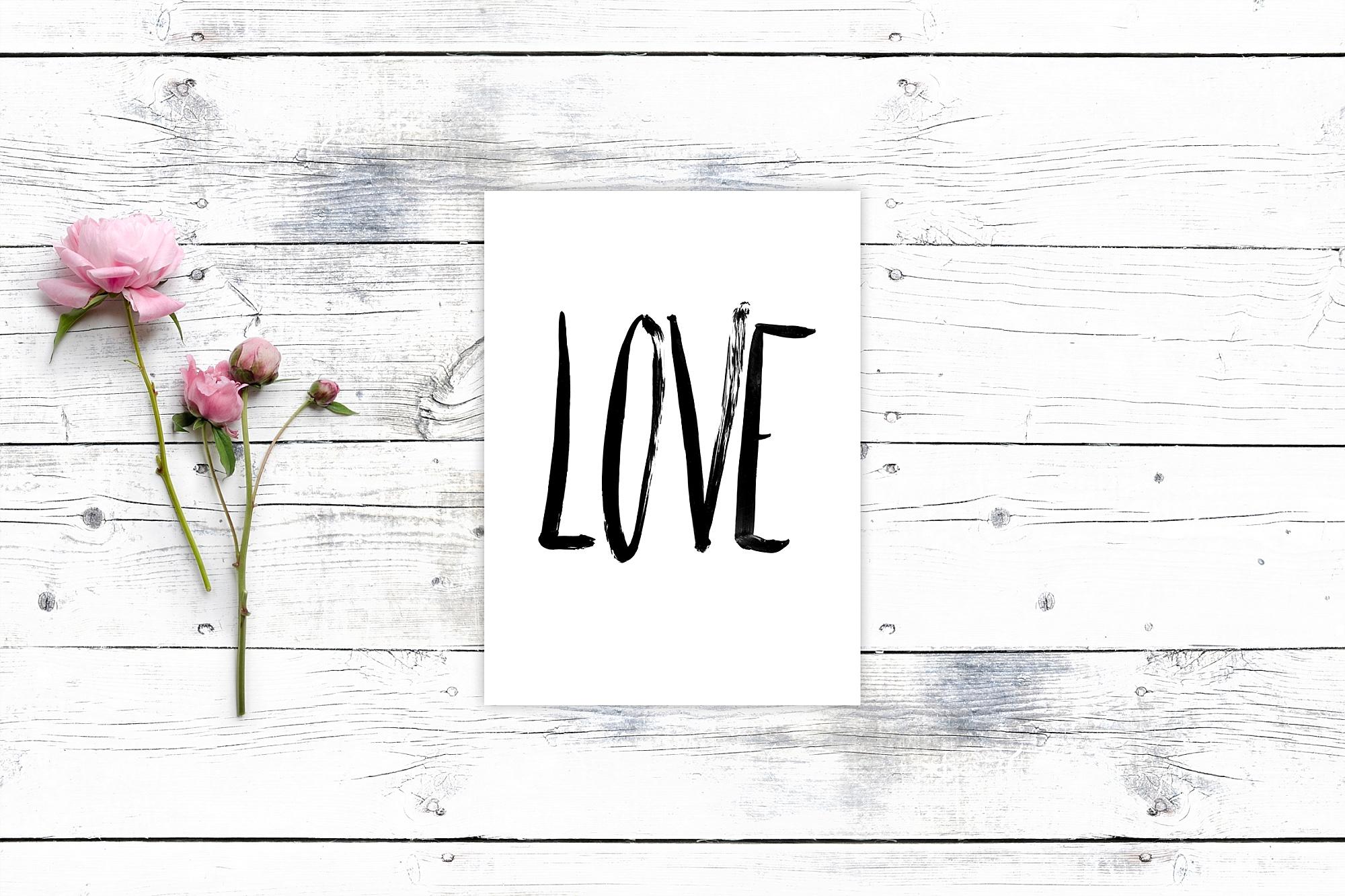 Love Kalligrafie Kunstdruck Print