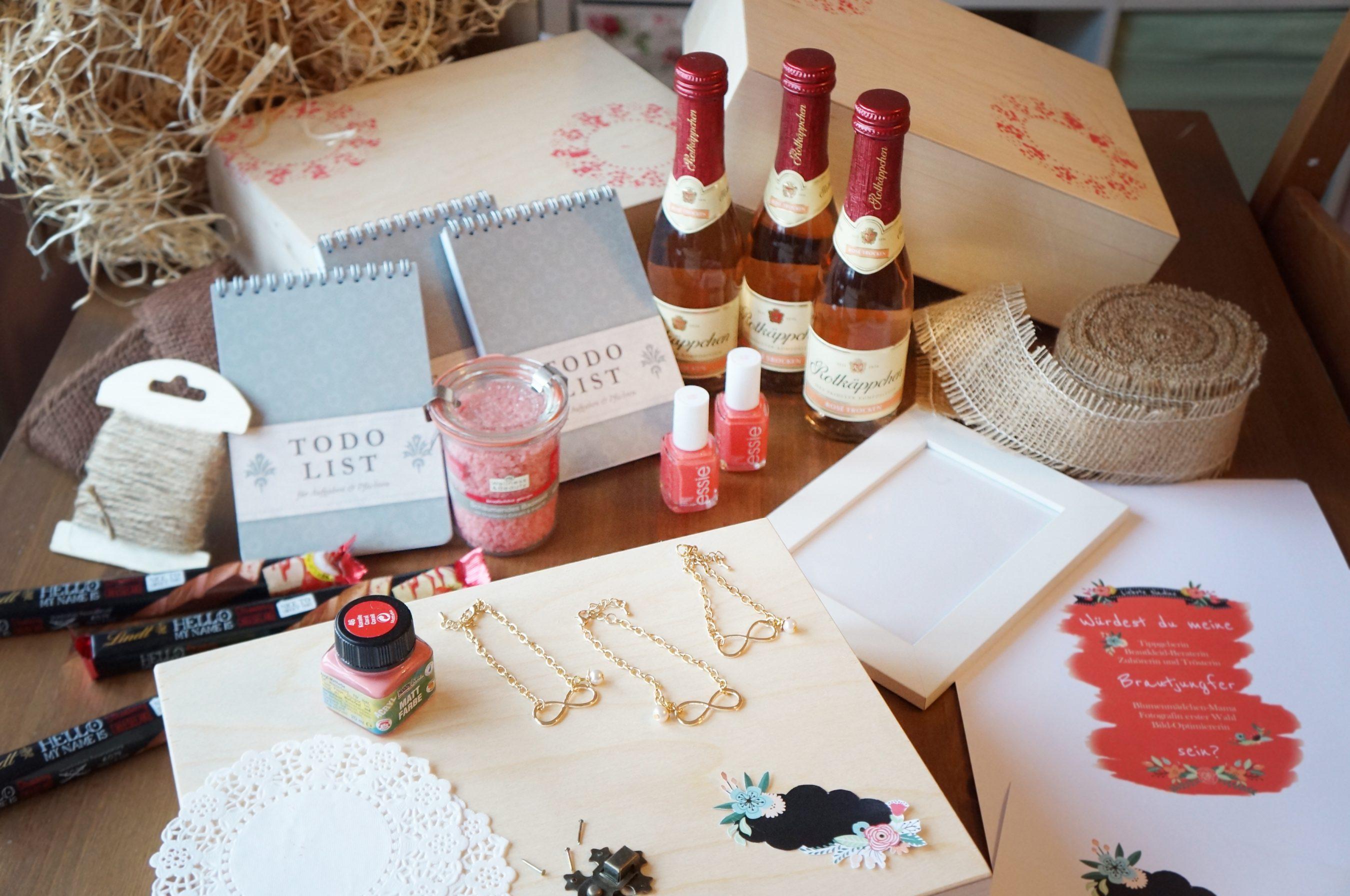 DIY Geschenk Brautjungfern Hochzeits Idee My Bridal Shower