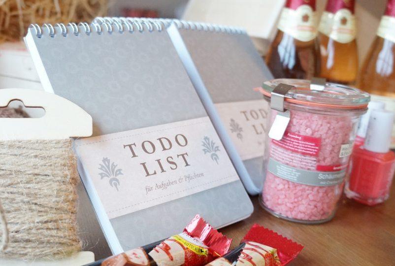 DIY Geschenk Trauzeugin Brautjungfer Notizbuch To Do Hochzeits Planung