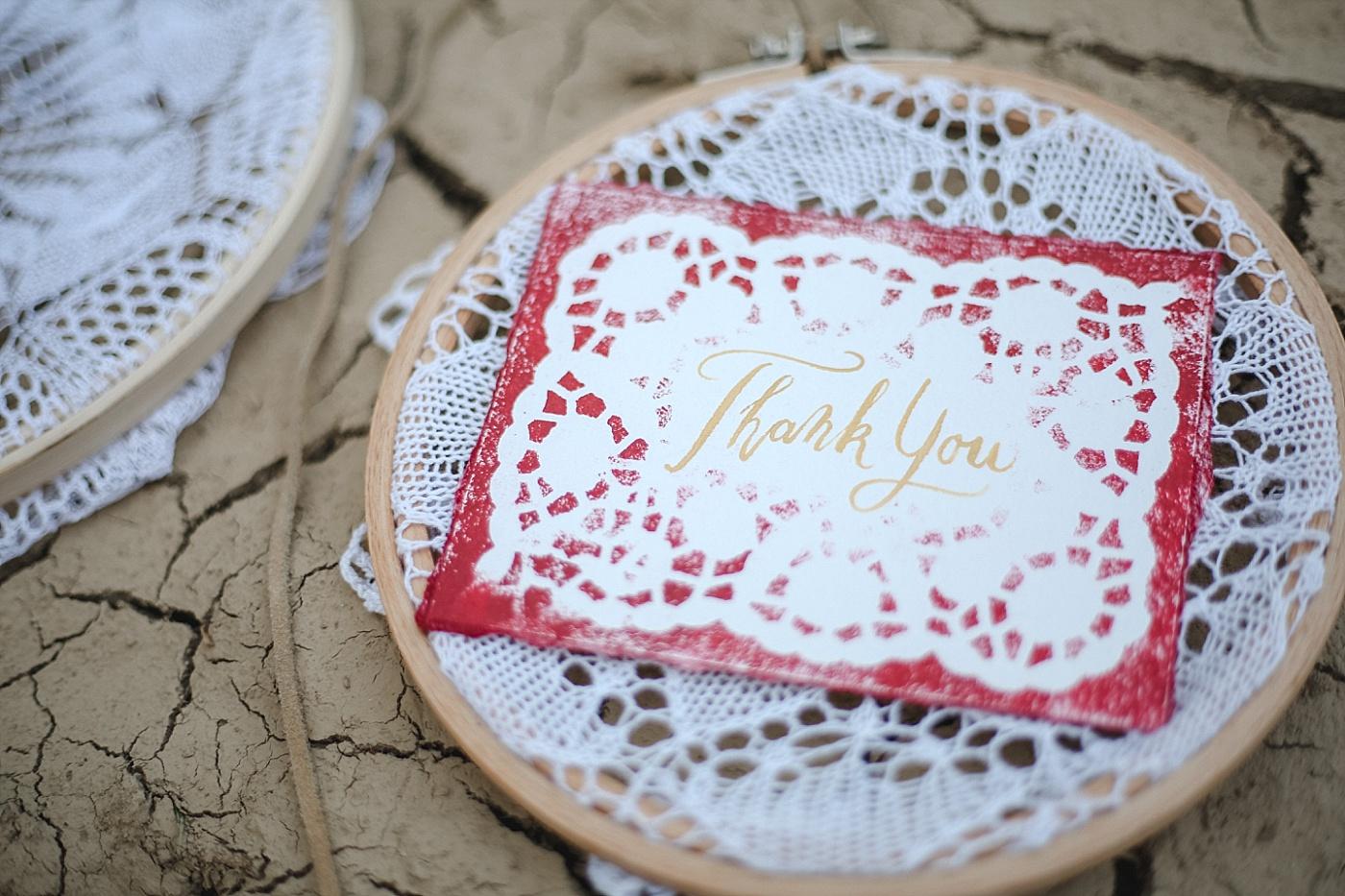 Dankeskarte Kalligrafie