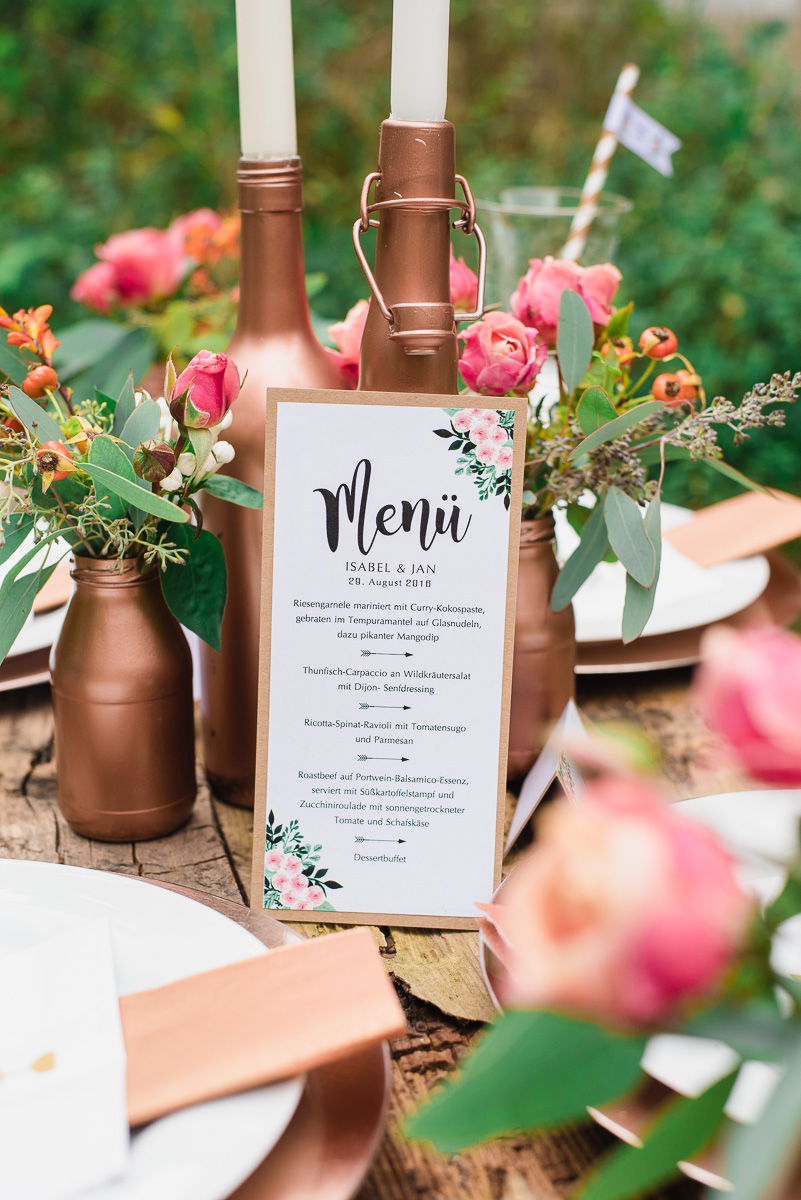 Copper boho love l ssige hochzeitsinspirationen for Kupferspray deko