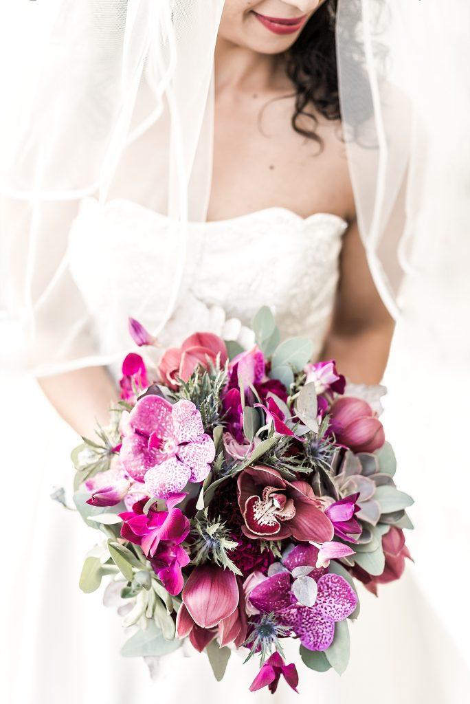 Stilvolle Hochzeitsdekoration rund um die Orchidee