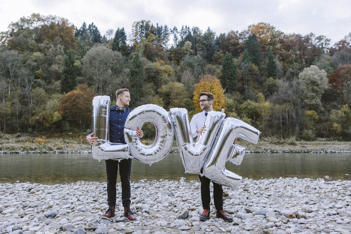 Folienluftballon silber Love