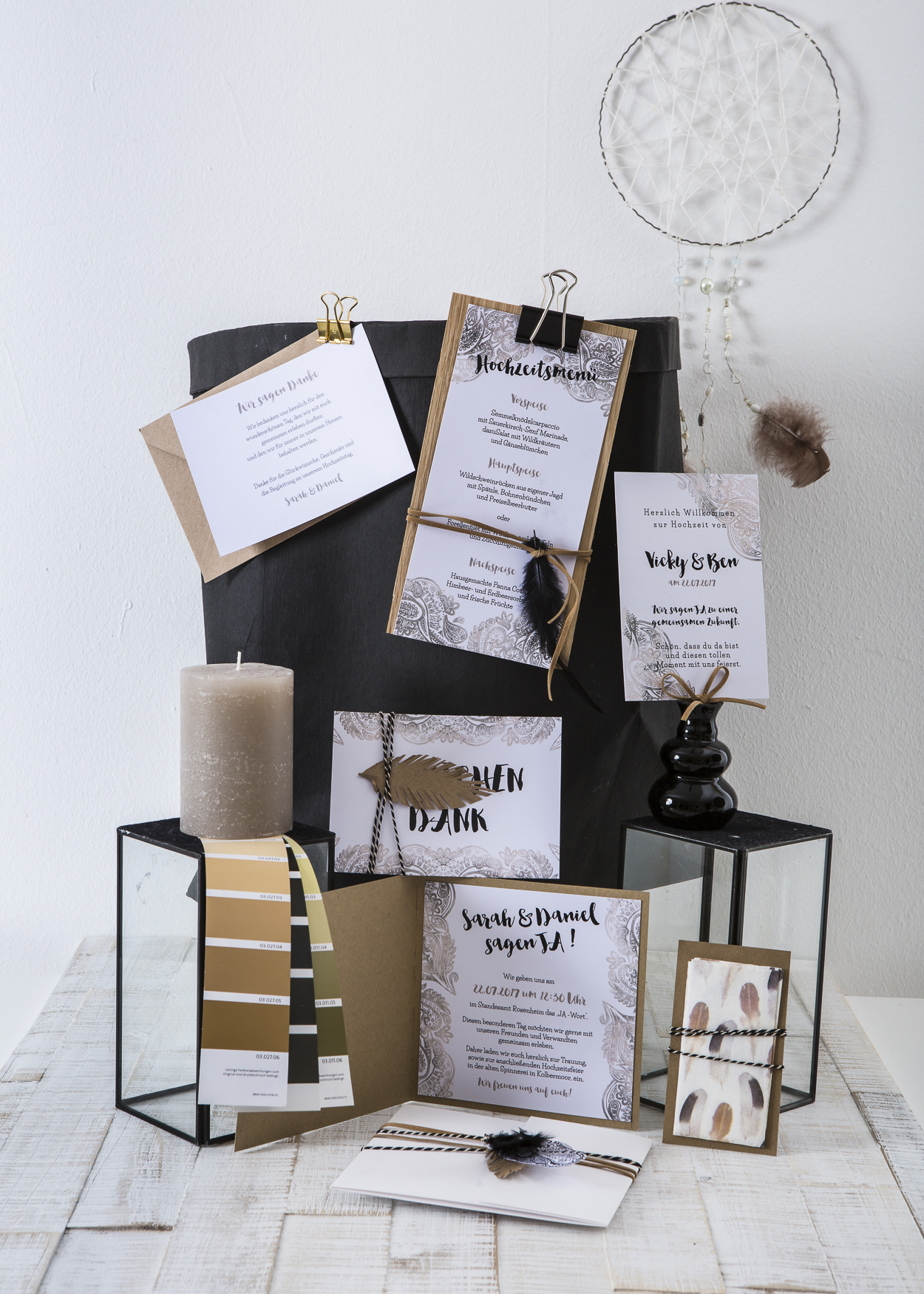 Einladungskarten Boho Hochzeit
