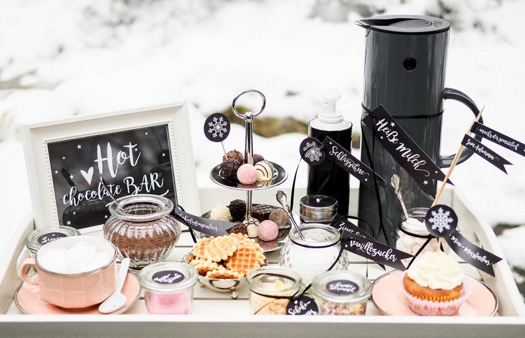 DIY Hot Chocolate Bar für die Winterhochzeit