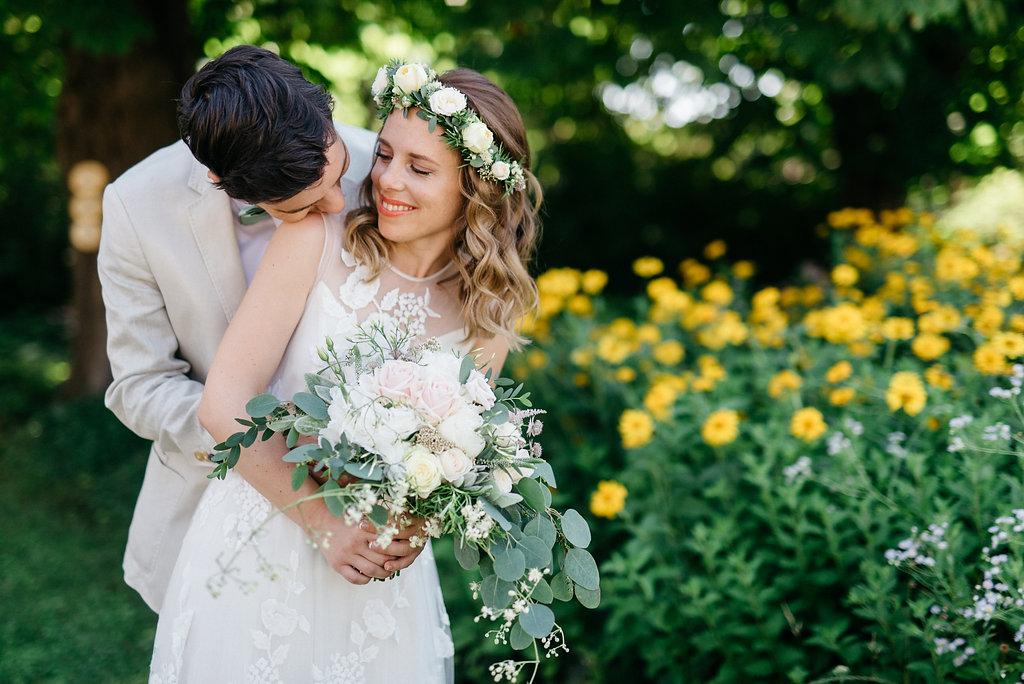 Hochzeit Blumenkranz Haar
