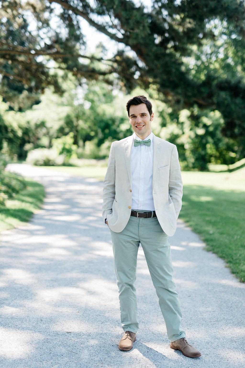 Bräutigam Anzug grün Hochzeit