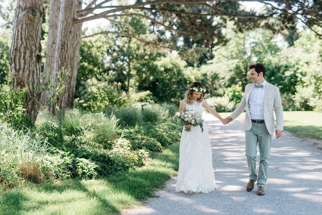 Hochzeit grün weiß