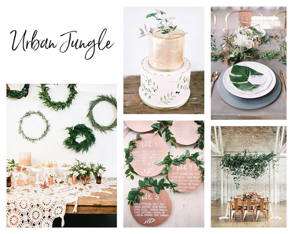 Hochzeitstrends 2017: Greenery und Grüne Hochzeiten bis zu Drip Cakes