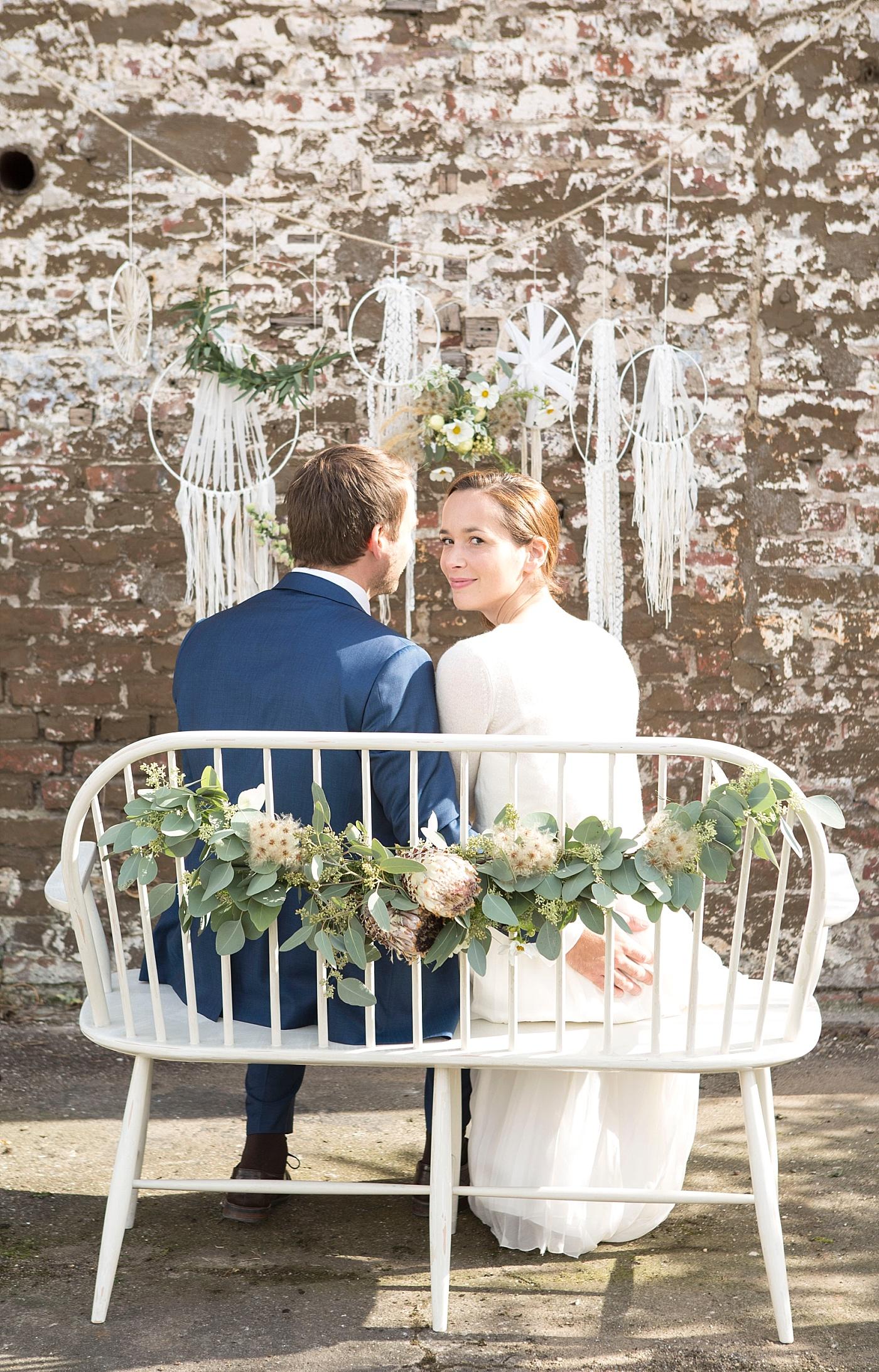 Traubank Hochzeit Dekoration