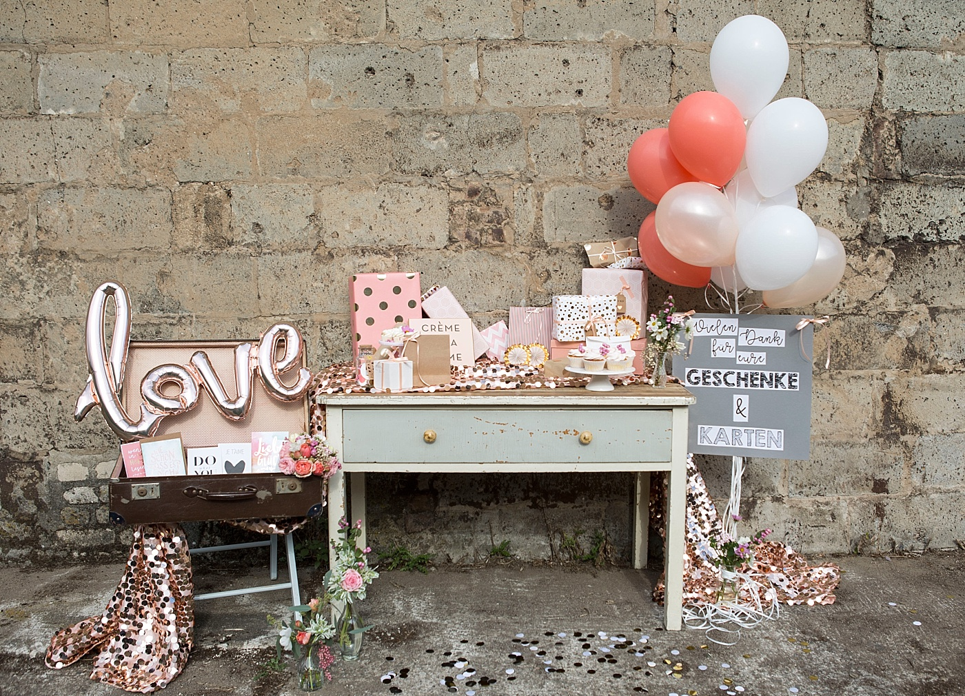 Geschenketisch Hochzeit Ideen