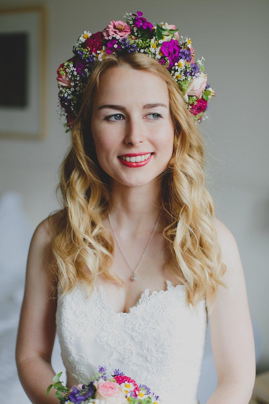 Boho Braut Blumenkranz