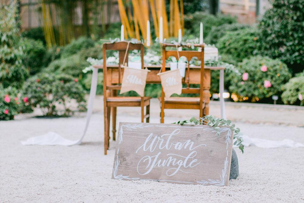 Urban Jungle Hochzeit grüne Hochzeit