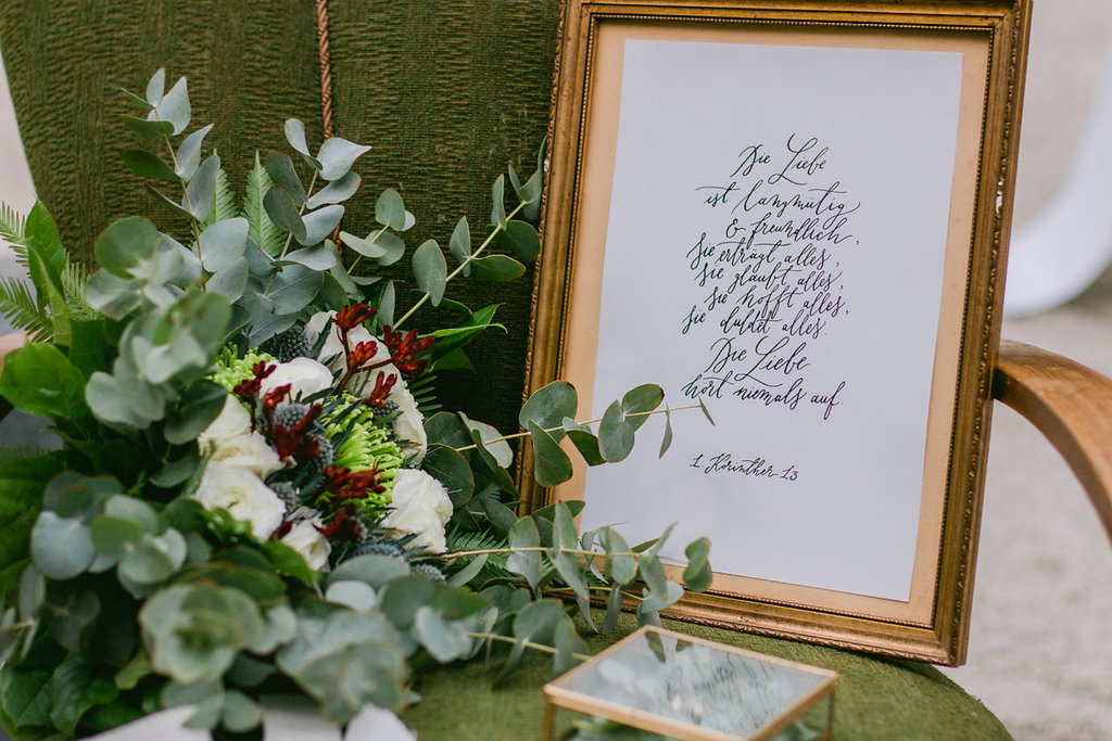 grüne Hochzeit Trauspruch Korintherbrief