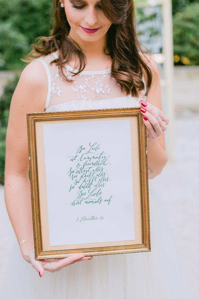 Korintherbrief Hochzeit Kalligrafie