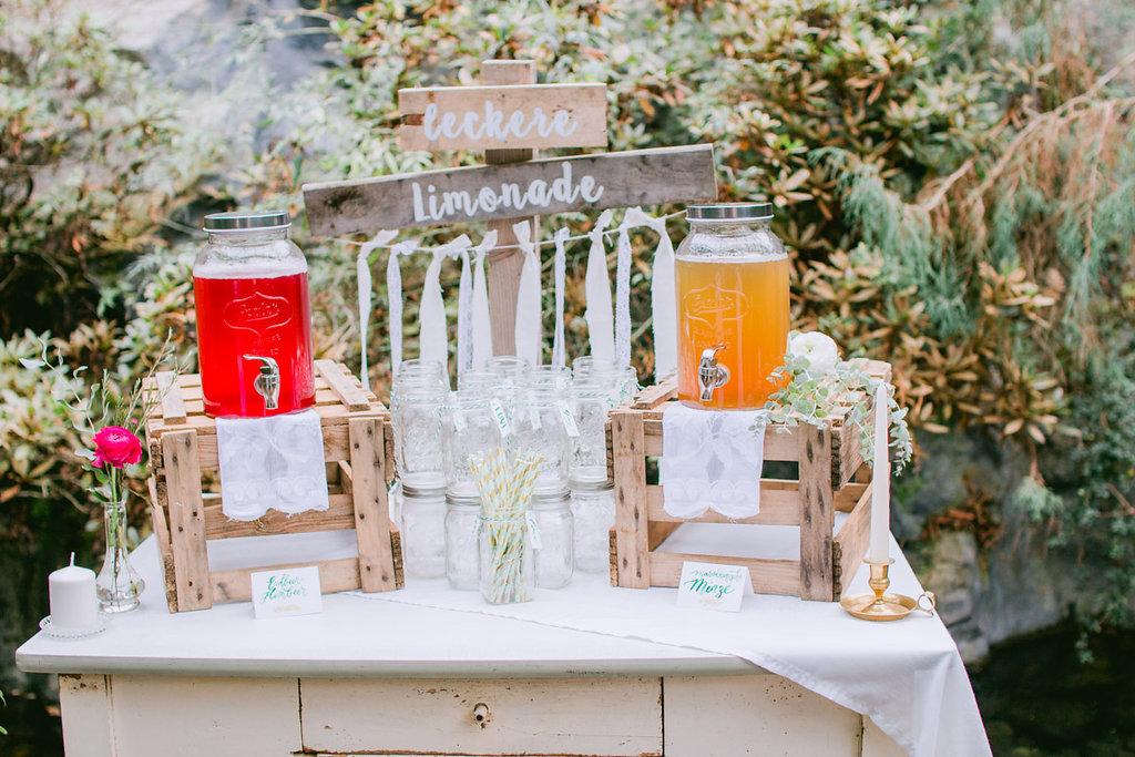 Limonadenbar Hochzeit