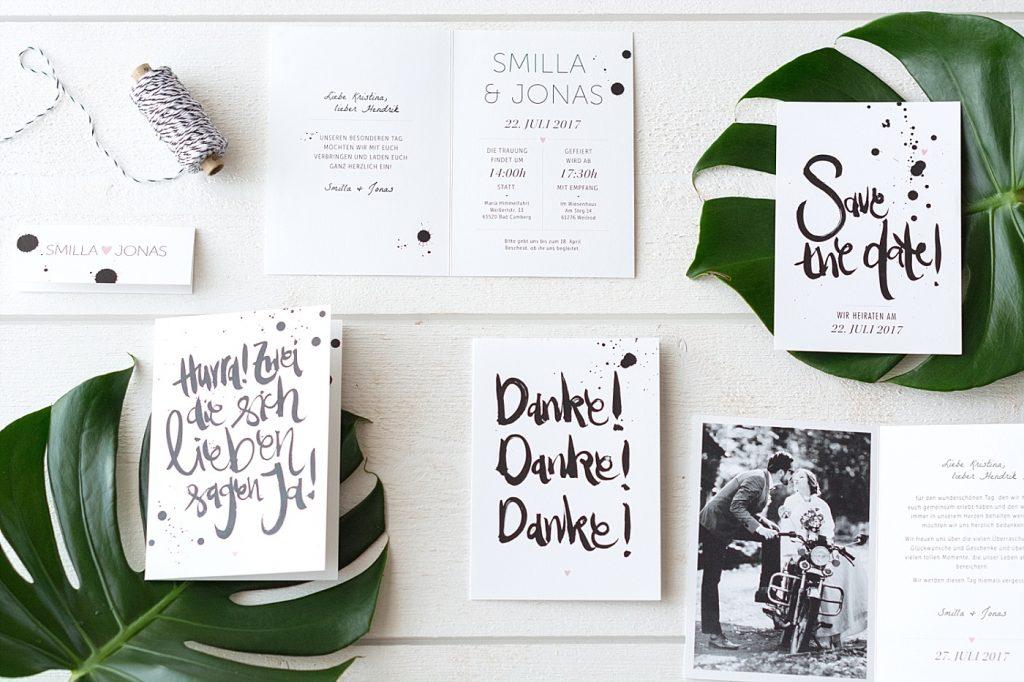 Liebevolle Papeterie von Hochzeitskartendesign & 3 x75€ zu gewinnen
